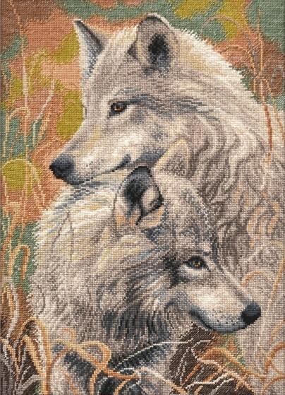 Вышивка крестом волчья верность
